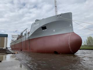 Cement carrier Shetland successfully launched (Video)