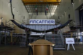 Fincantieri Holds Keel Laying Of The First Multipurpose Offshore Patrol Ship