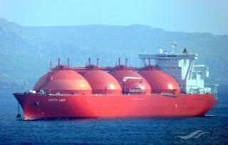 LNG tanker Arctic Lady heading for Zeebrugge LNG terminal