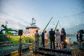 DEME holds naming ceremony for the dual fuel powered dredger 'Scheldt River'