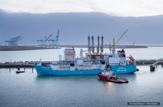 Ship-to-ship LNG bunkering service started in the port of Zeebrugge
