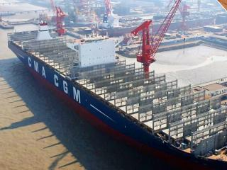 Largest CMA CGM containership delivered