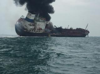 One crewmember dead, two still missing after huge explosion on chemical tanker Aulac Fortune off Lamma Island, Hong Kong
