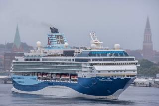 Maiden Call by Marella Cruises At The Port of Kiel