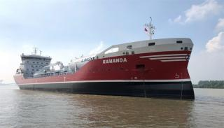 FKAB delivers RAMANDA - second vessel out of six built for Rederi AB Älvtank