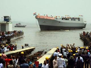 Indian Navy Launches Visakhapatnam Stealth Destroyer