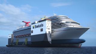 Boskalis to dry dock Carnival cruise ship on the BOKA Vanguard (Video)