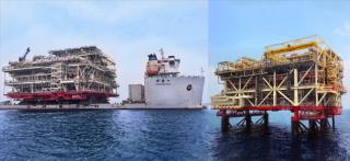 COSCO SHIPPING Heavy Transport: Three platforms installed offshore U.A.E. within 5 weeks