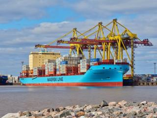 Vistula Maersk, first in the series of Seago Line's new ice-class vessels, named Danish Ship of the Year 2018 by Maritime Denmark Media Group