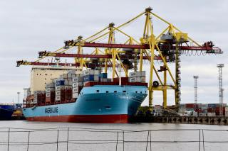 Vistula Maersk makes a maiden call to St. Petersburg, as first in series of new ice-class vessels