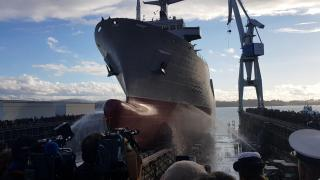 WATCH: Launching ceremony of the Australian Oilers Replenishment (AOR) NUSHIP Supply