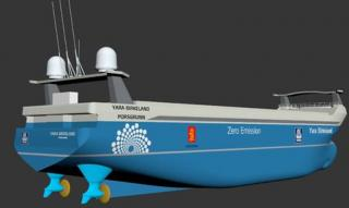 Enova Norway to support YARA for the building of the world's first electric and autonomous container ship