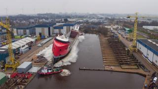 EasyMax-type multipurpose vessel launched successfully at shipyard Royal Niestern Sander (Video)