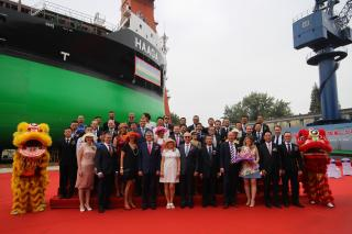 ESL Shipping holds naming ceremony for its second LNG-fueled dry cargo vessel