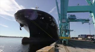 VIDEO: Crowley's Second LNG-Powered ConRo Ship Taíno Enters Service