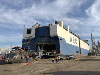 ARC Loads Army Aviation Unit Cargo in Thessaloniki
