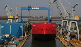 Damen performs float-out of Australian icebreaker