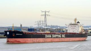 Diana Shipping announces time charter contract for m/v Crystalia with SwissMarine