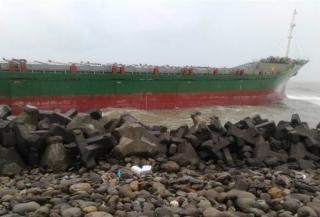 Breaking: 7 Ships Grounded off Kaohsiung Harbour after Battling Violent Waves
