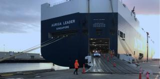 First Shipment of Subaru Automobiles Arrives at the Port of Hueneme