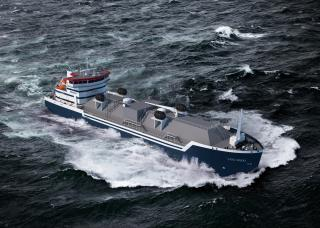 Steel cut for first short-sea LNG bunker vessel for Eesti Gaas at Damen Yichang Shipyard, China