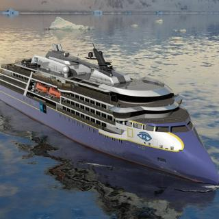 First milestone for Ulstein-designed expedition cruise vessel
