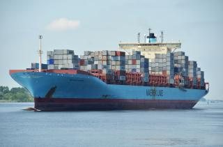 Gerda Maersk becomes the largest ship to call Slovenia's Koper