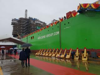 DEME's giant, next-generation installation vessel 'Orion' launched in China