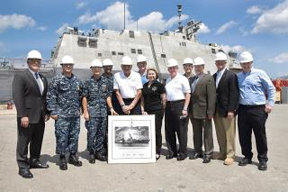 Fincantieri Shipyard in Marinette Hosts Keel-laying For 17th Littoral Combat Ship
