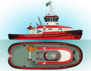 Contract awarded for construction of Icebreaking tug designed by Robert Allan Ltd. for Port of Lulea