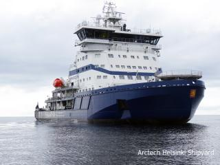 The world's first LNG-powered icebreaker Polaris delivered (Video)