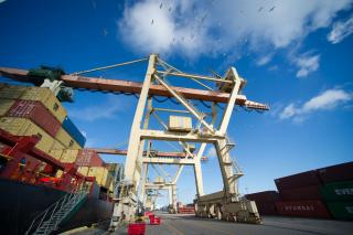 "New container transport line ""Poland-Finland Express"" launches operation in the Port of Riga"