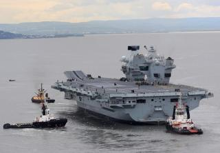 Aircraft carrier HMS Queen Elizabeth sails for the first time (Video)