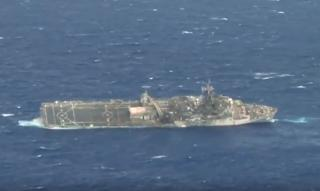 Watch: USS Ogden sinking after a hit by Naval Strike Missile during SINKEX RIMPAC 2014