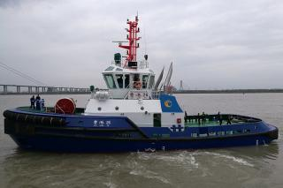 RAmparts 3300 Class ASD Tug designed by Robert Allan Ltd. delivered to the Owner - Cao Fei Dian Port, China