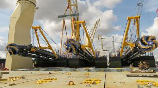 Damen Shipyards Group again successfully delivers multiple dredgers to Bangladesh