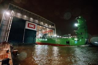 Royal IHC launches world's largest cutter suction dredger Spartacus for DEME