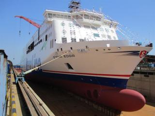 Stena Line's second next-generation ferry Stena Edda 'floats out' in China