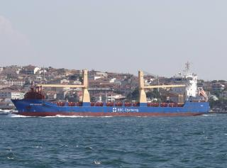 Ferry Eurocargo Istanbul allided with BBC Bahrain at Livorno outer anchorage
