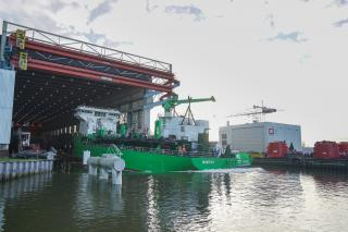 World's First LNG-Powered Hopper Dredger Launched at Royal IHC's shipyard in Kinderdijk, The Netherlands