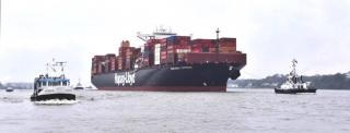 Hapag-Lloyd holds naming ceremony for 10,500 TEU ship Guayaquil Express in Hamburg