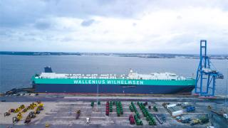 RoRo vessel Salome takes to the seas after green and grey rebrand (Video)