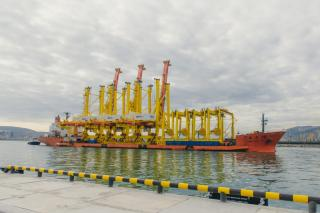 Equipment For New Deepwater Berth 38 Arrived at NUTEP Container Terminal