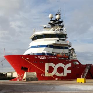 Vessel Skandi Captain makes maiden visit to Port of Lowestoft