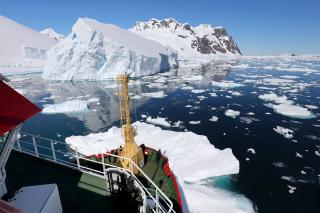 Royal Navy's Ice Patrol Ship HMS Protector Returns To Remote Antarctic Island