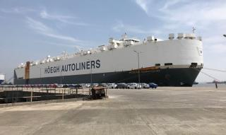 Höegh Shanghai loads record number of export vehicles in Mumbai