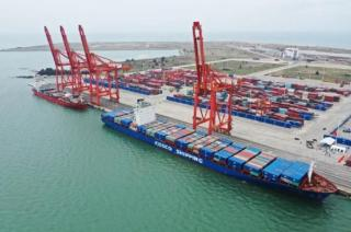 """Launching ceremony of the ILSTC and COSCO SHIPPING """"Hainan-ASEAN (Singapore)"""" Liner Route held in Hainan"""