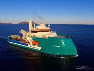 """BARD Offshore 1: New support vessel """"Acta Auriga"""" boosts service and maintenance concept for the wind farm"""