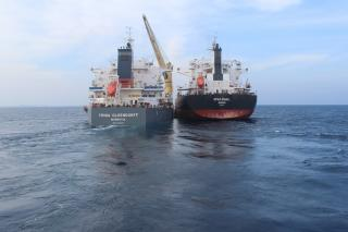 Oldendorff carries out successful transhipment operation in the deep, protected water of the Andaman Islands, Bay of Bengal