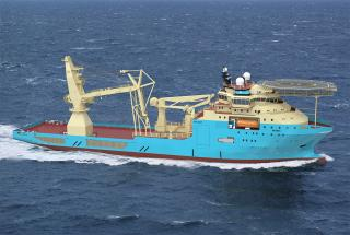 COSCO Dalian Shipyard delivers new deep subsea support vessel to Maersk Supply Service (Video)